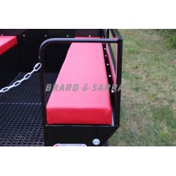 Remorque de transport de personne 8 à 10 places - RCTP8 - options banquettes en skaï marine étanche sur la photo