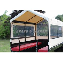 Remorque de transport de personne 8 à 10 places - RCTP8 - option bâche PVC à 3 côtés dont 2 repliables, sur arceau démontable