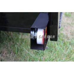 Remorque de transport de personne 8 à 10 places - RCTP8 - éclairage de signalisation LED, sans fil (Wifi) et aimanté