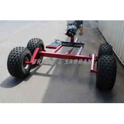 Chariot porteur PRO 4 roues...