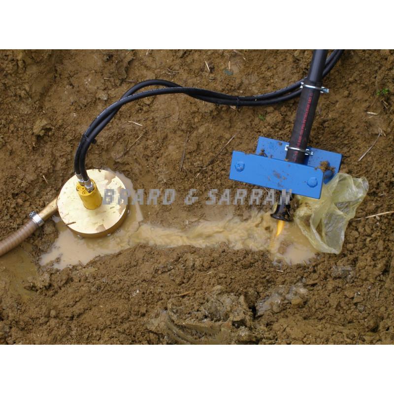 Pompe hydraulique d'extraction des boues
